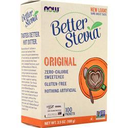 Now Better Stevia - Zero Calorie Sweetener Original 100 pckts