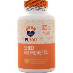 PL360 Shed No More for Dogs Beef & Cheese Flavor 120 tabs