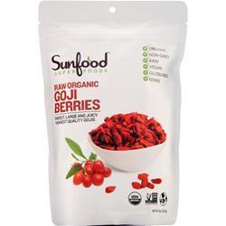 Sunfood Raw Organic Goji Berries 8 oz