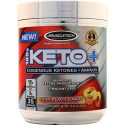 Muscletech 100% Keto Plus Performance Series Sour Peach Candy 341 grams