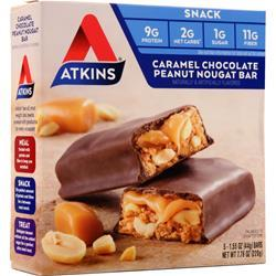 Atkins Advantage Caramel Bar Caramel Chocolate Peanut Nougat 5 bars