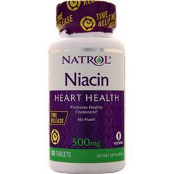 Natrol Niacin-TR (500mg) Time Release 100 tabs