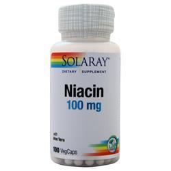 Solaray Niacin (100mg) 100 vcaps