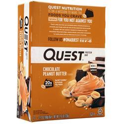 Quest Nutrition Quest Natural Protein Bar Chocolate Peanut Butter 12 bars