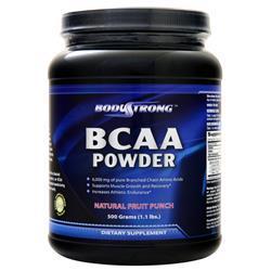 BodyStrong BCAA Powder Natural Fruit Punch 500 grams