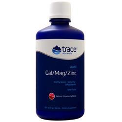 Trace Minerals Research Cal/Mag/Zinc Liquid Natural Strawberry 32 fl.oz