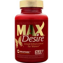 MD SCIENCE LABS MAX Desire for Women Best by 3/15 60 tabs