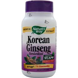 NATURE'S WAY Korean Ginseng - Standardized Extract 60 vcaps