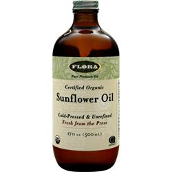 FLORA Certified Organic Sunflower Oil 17 fl.oz