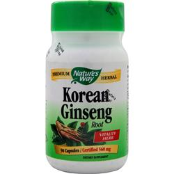 Nature's Way Asian Ginseng (formerly Korean Ginseng Root) 50 caps