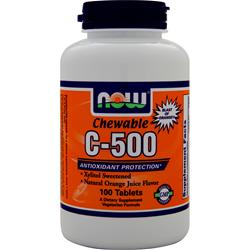 NOW Chewable C-500 Orange 100 tabs