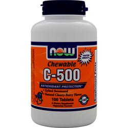 NOW Chewable C-500 Cherry Berry 100 tabs