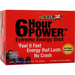NVE PHARMACEUTICALS Stacker 2 6 Hour Power Extreme Very Berry 12 bttls