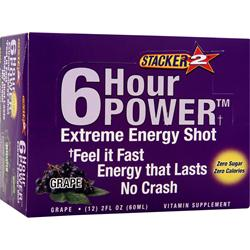 NVE PHARMACEUTICALS Stacker 2 6 Hour Power Extreme Grape 12 bttls