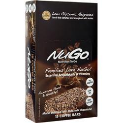 Nugo Nutrition NuGo Bar Coffee 15 bars