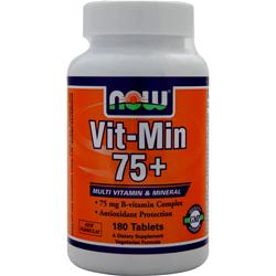 Now Vit-Min 75+ 180 tabs