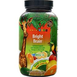 Irwin Naturals Bright Brain Super Citrus EXPIRES 11/17 30 chews