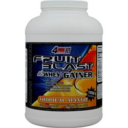 4 EVER FIT Fruit Blast the Whey Gainer Tropical Mango 6.6 lbs