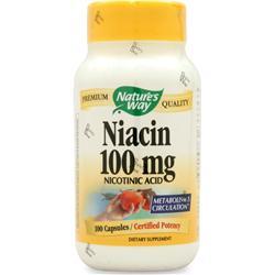 Nature's Way Niacin (100mg) 100 caps