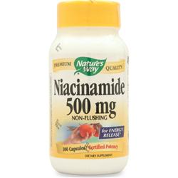 NATURE'S WAY Niacinamide (500mg) Non-Flushing 100 caps
