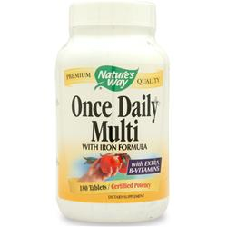 Nature's Way Once Daily Multiple w/ Iron 180 tabs