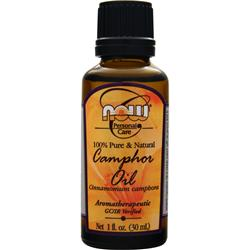 NOW Camphor Oil (100% Pure and Natural) 1 fl.oz