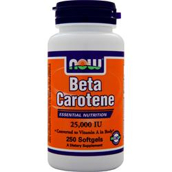 Now Beta Carotene (25000IU) 250 sgels