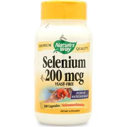 NATURE'S WAY Selenium 200mcg 100 caps