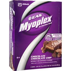 EAS Myoplex Strength Bar Chocolate Chocolate Chip 6 bars