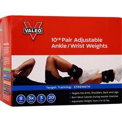 Valeo Adjustable Ankle/Wrist Weights 5lb Each (10lb Pair) 2 unit