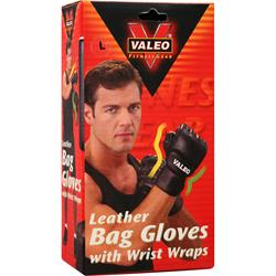 VALEO Leather Bag Gloves with Wrist Wraps Large 2 glove