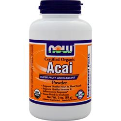 NOW Certified Organic Acai Powder 3 oz