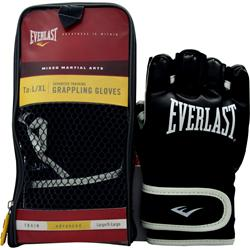 Everlast Mixed Martial Arts Grappling Gloves Black L/XL 2 glove
