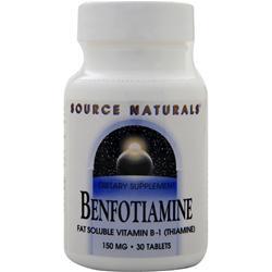 SOURCE NATURALS Benfotiamine (150mg) 30 tabs
