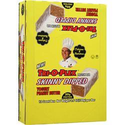 Chef Jay's Tri-O-Plex Skinny Dipped Bar Yogurt Peanut Butter 12 bars