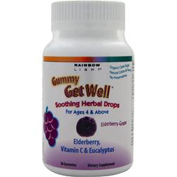 RAINBOW LIGHT Gummy Get Well Elderberry Grape 30 gummy