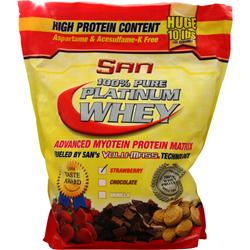 SAN 100% Pure Platinum Whey Strawberry 10 lbs