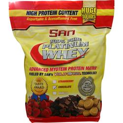 SAN 100% Pure Platinum Whey Chocolate 10 lbs