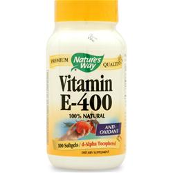 NATURE'S WAY Vitamin E-400 100 sgels