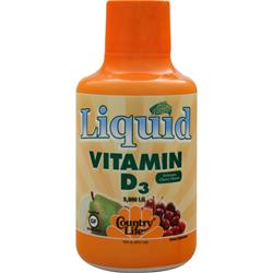 COUNTRY LIFE All Natural Liquid Vitamin D-3 Delicious Cherry 16 fl.oz