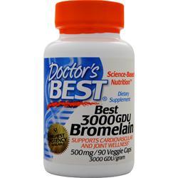 Doctor's Best High Potency Bromelain (3000GDU) 90 vcaps