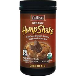 NUTIVA Organic Hemp Shake Chocolate 16 oz