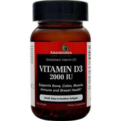 FUTUREBIOTICS Vitamin D3 (2000IU) 120 sgels