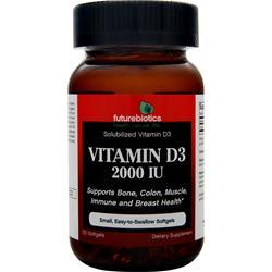Futurebiotics Vitamin D3 (2000IU) 120 sgels