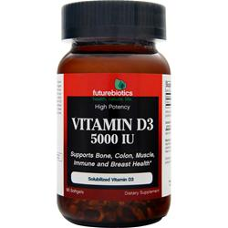 FUTUREBIOTICS Vitamin D3 (5000IU) 90 sgels