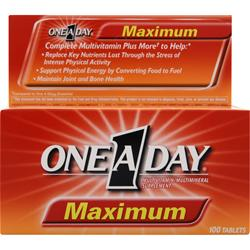 BAYER HEALTHCARE ONE A DAY Maximum 100 tabs