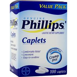 Bayer Healthcare Phillips' Caplets 100 cplts