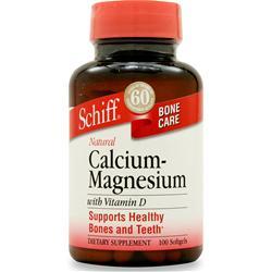 SCHIFF Calcium Magnesium w/ Vitamin D 100 sgels
