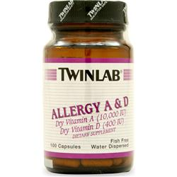 TWINLAB Allergy A&D 10000IU/400IU 100 caps