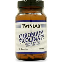 TWINLAB Chromium Picolinate (200mcg) 200 caps